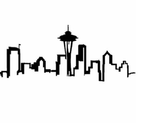 black, city, and seattle image
