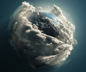 earth, clouds, and planet image