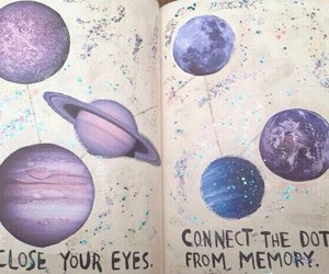 planet, art, and grunge image