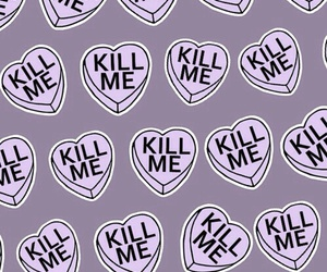hearts, purple, and wallpaper image