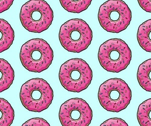 azul, donut, and pink image