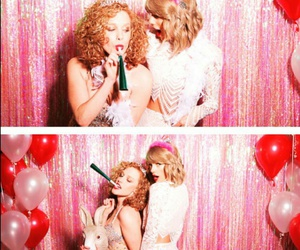 balloons, curly hair, and dress image