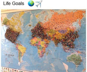 travel, world, and goals image
