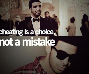 quote, cheating, and Drake image