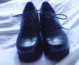 80s, black shoes, and Darkness image