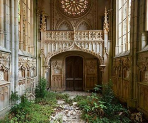 architecture, abandoned, and nature image