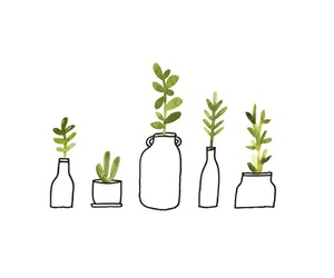 plants, drawing, and green image