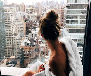architecture, girl, and hotel image