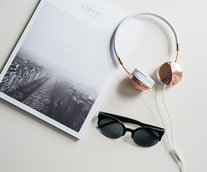 headphones, lifestyle, and minimalism image