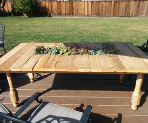 pallet furniture, pallet tables, and pallet planters image