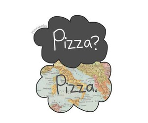 pizza, food, and overlay image