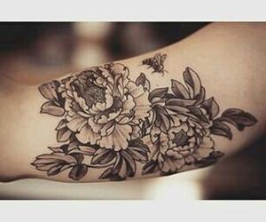 peony and tattoo image