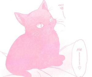 cats, manga, and pastel image