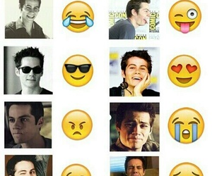 dylan o'brien, teen wolf, and emoji image