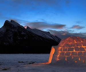 snow, igloo, and winter image