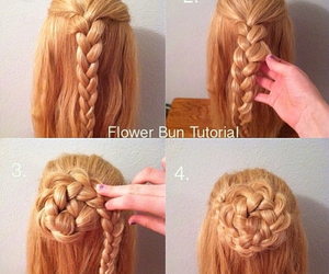 flower, hair, and tutorial image