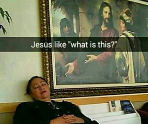 funny, jesus, and lol image