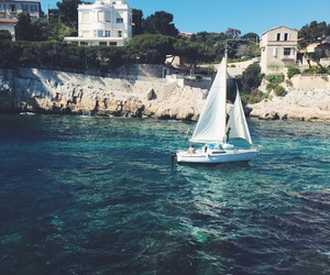 boat, cassis, and spring image