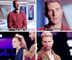 mileycyrus, adam levine, and thevoice image