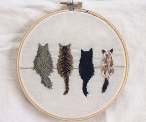 cat, art, and tumblr image