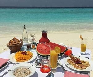food and beach image