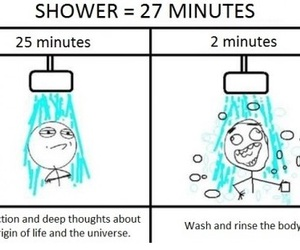 shower, funny, and true image