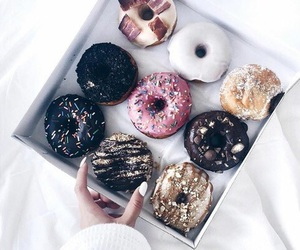 chocolate, delicious, and donuts image