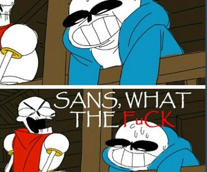 funny, papyrus, and sans image