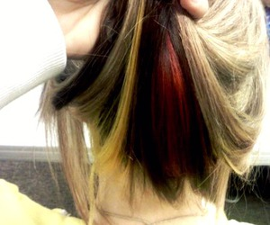 hair, red, and yellow image