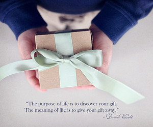 gift, life, and quote image