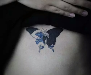 butterfly, japan, and tatto image