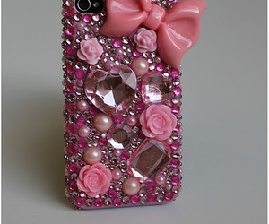 iphone, cover, and pink image