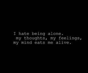 alone, sad, and feelings image