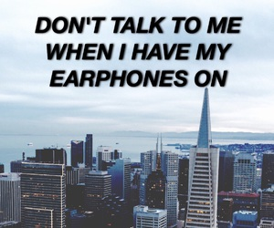 earphones, music, and quotes image