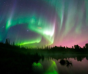 aurora boreal, color, and invierno image