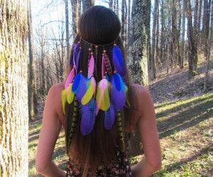 etsy, fashion, and feathers image