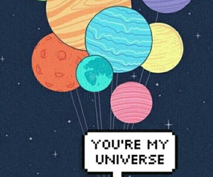 love, planet, and universe image