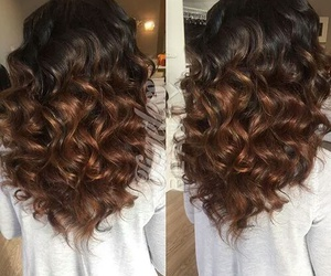 ombre hair curly wavy image