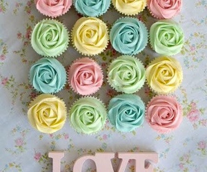 love, cupcake, and pastel image