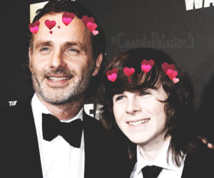twd, chandler riggs, and rick grimes image