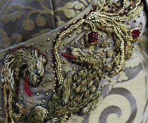costume, embroidery, and sansa stark image