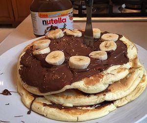 nutella, food, and banana image