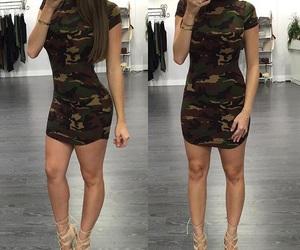 camo, dress, and fashion image