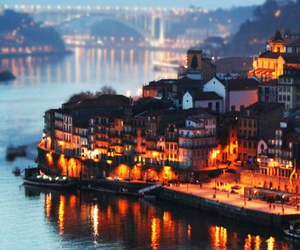 city, light, and portugal image