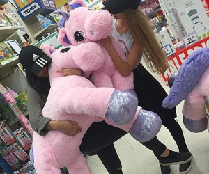unicorn, pink, and friends image