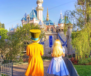disney, alice in wonderland, and castle image