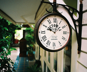 clock, vintage, and photography image