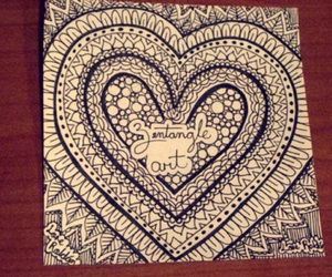 art, heart, and zentangleart image