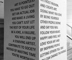 art, quotes, and life image