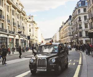 car, london, and people image